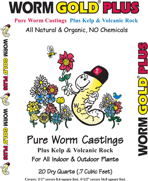 Worm Gold Worm Castings Plus - 8 qt
