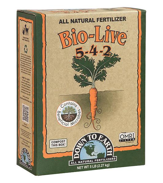 Down To Earth Bio-Live 5-4-2 Fertilizer - 5 lb