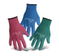 Boss®  Ladies' Guardian Angel™ Polyester Knit Single Dip Latex Palm Green/Blue/Fuscia Gloves  - Small