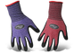 Boss® Guardian Angel™ Dotted Nitrile Palm Knit Wrist Purple/Red Gloves  - Medium