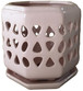 Glazed Ceramic Cadence Orchid Pot Coral - 6 inch
