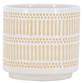 Glazed Ceramic Abacus Planter White/Natural - 7 inch