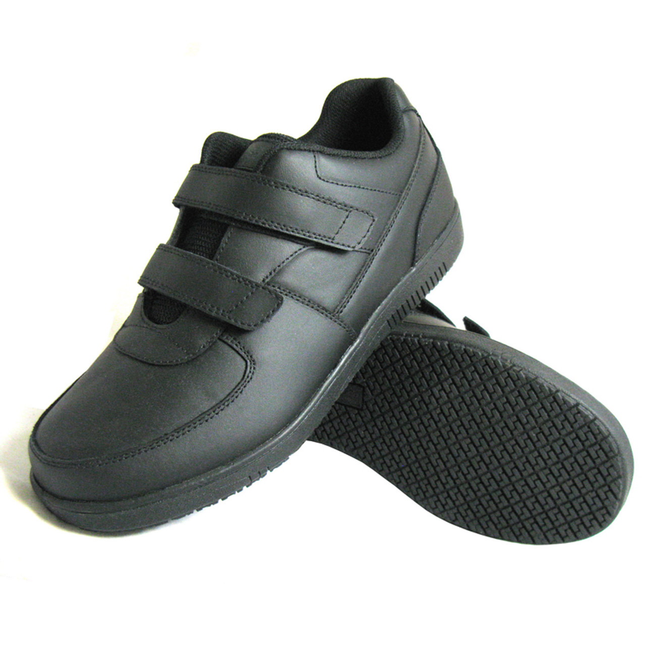 Slip-Resistant Hook and Loop Work Shoes