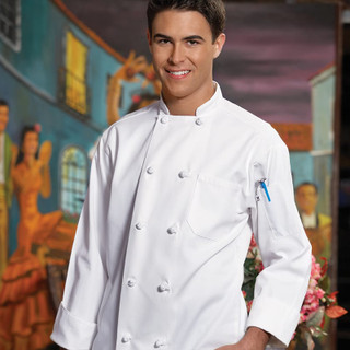 Classic Knot Button Cotton Twill Chef Coat - Clearance