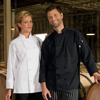 Classic Knot Button Chef Coat - Clearance
