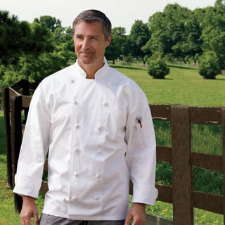 Executive 12 Knot Button Cotton Twill Chef Coat - Clearance