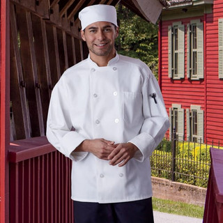 Classic Chef Coat with Mesh Back - Clearance