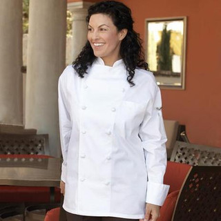 Executive 12 Hand Rolled Button Egyptian Cotton Chef Coat - Clearance