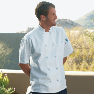 Classic Knot Button Short Sleeve Chef Coat - Clearance