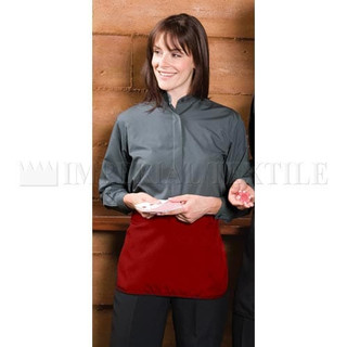 Lot of 9 Red 3 Pocket Cafe Style Waist Aprons (Clearance)