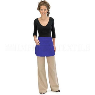 Lot of 12 Royal Blue Reversible 3 Pocket Waist Aprons (Clearance)