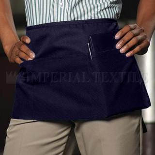 Lot of 7 Navy Blue 3 Pocket Waist Aprons (Clearance)
