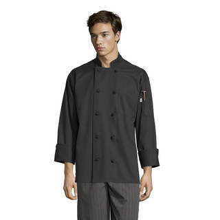 Classic Knot Button Chef Coat by Uncommon Threads