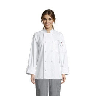 Classic Knot Button Chef Coat, Cotton by Uncommon Threads