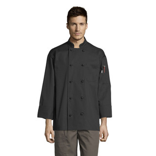 Classic Knot Button Chef Coat with Mesh Back by Uncommon Threads