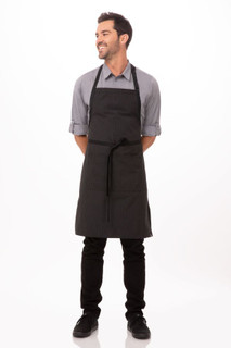 Butcher Bib Apron with Contrasting Tiesby Chef Works