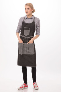 Bronx Bib Apron with Scoop Neckby Chef Works