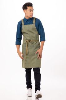 Uptown Cross-Back Bib Apronby Chef Works