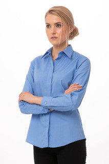 Womens Basic Dress Shirtby Chef Works