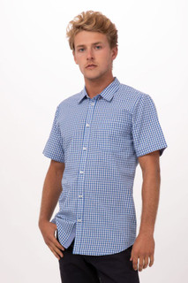 Modern Gingham Short Sleeve Dress Shirtby Chef Works