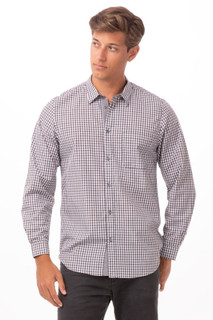 Modern Gingham Long Sleeve Dress Shirtby Chef Works