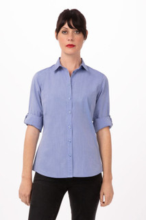 Womens Modern Chambray Dress Shirtby Chef Works
