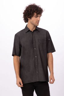 Detroit Short Sleeve Denim Shirtby Chef Works