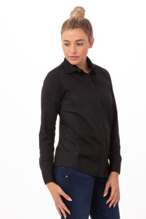 Womens Shelby Zip Front Shirtby Chef Works