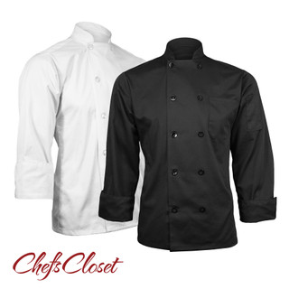 ChefsCloset Long Sleeve 10 Button Chef Coat