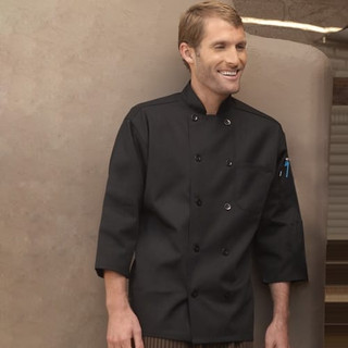 10 Button 3/4 Sleeve Chef Coat