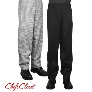 ChefsCloset Elastic Waist Baggy Chef Pants