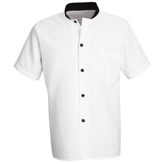 Black Trimmed Cook Shirt