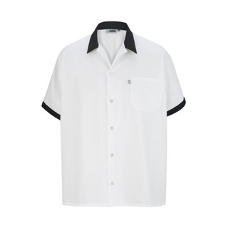 White Cook Shirt with Trim by Edwards
