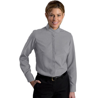 Women's Batiste Banded Collar Shirt by Edwards