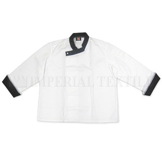 Tunic Chef Coat with Black Cuffs - Clearance