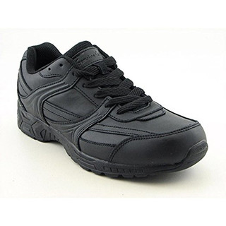 Men's Leather Slip-Resistant Jogger Work Shoes