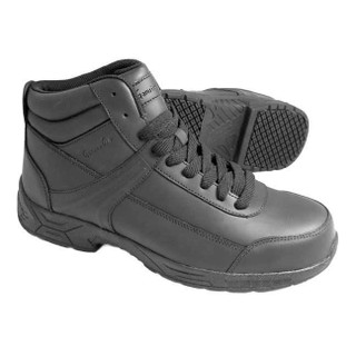 Men's 6 in. Steel Toe Slip-Resistant Leather Work Boots