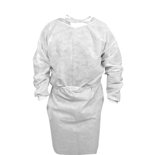 Disposable Isolation Gown with Knit Cuffs