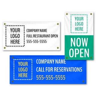Back In Business SEMI-Custom Banners