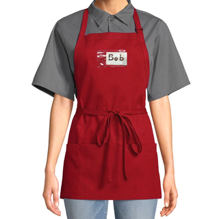 Clearance Red Server Bib Name Tag Apron