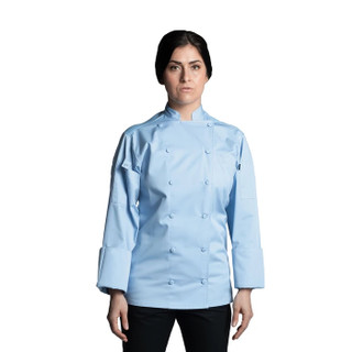 Sky Blue Vigor Pro Vent Chef Coat by Uncommon Threads