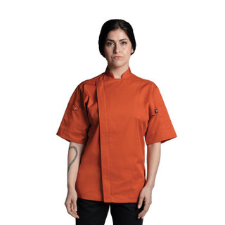 Orange Venture Pro Vent Chef Coat by Uncommon Threads