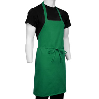 ChefsCloset Kelly Green St Patrick's Premium Full Coverage Bib Apron (Seasonal Clearance)