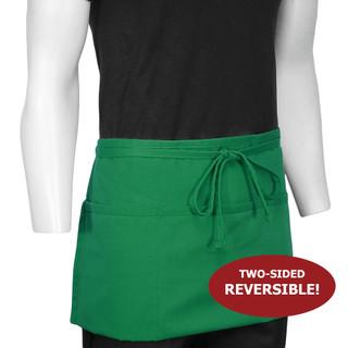 ChefsCloset Kelly Green St Patrick's Reversible 3-Pocket Waist Apron (Seasonal Clearance)