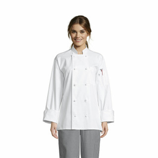 Classic Knot Button Cotton Chef Coat (White, Size: 2XL) - Overstock Deal