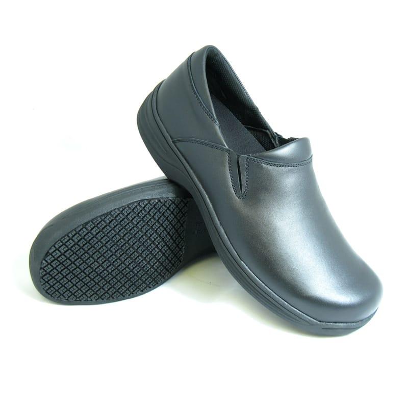 Women's Leather Slip Ons