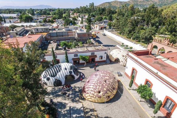 Crean museo inflable en México, con forma de fríjol