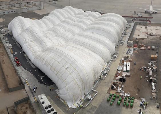 El hangar inflable más grande del mundo
