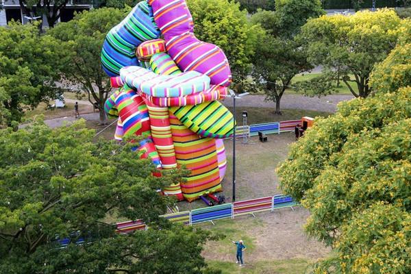 Los inflables toman más fuerza en los eventos masivos