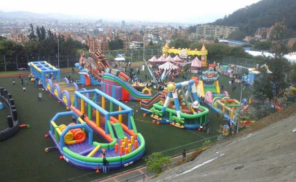 Los parques inflables más llamativos en Bogotá